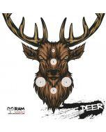 Deer___Schietkaarten_14x14___RAM_Targets