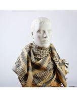 Sjaal PLO zwart/ zand